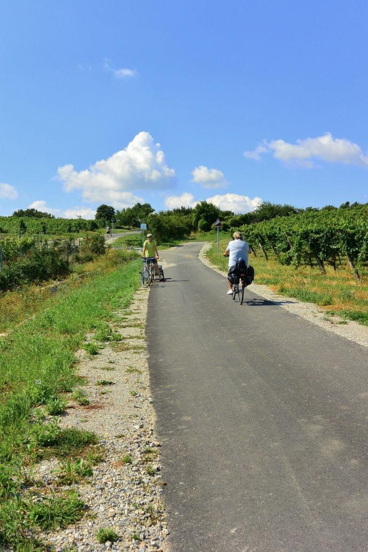 biciklisek Balf határában