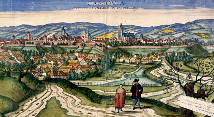 Kassa látképe 1617-ből