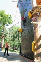 biztosított mászás a magasba