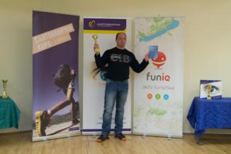 Manhalter Krisztián, a 2017-es Cartographia Kupa kiemelt teljesítője 24 túrával