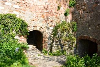 a Macskalépcső teteje a várban