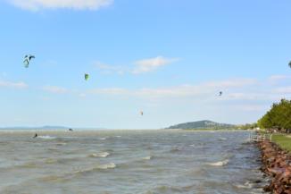 kitesurf a Balatonon