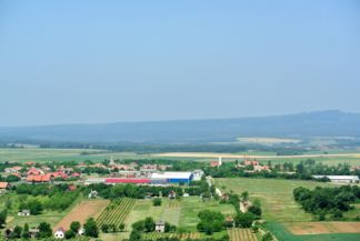 Mencshely seen from the Kossuth Lookout Tower