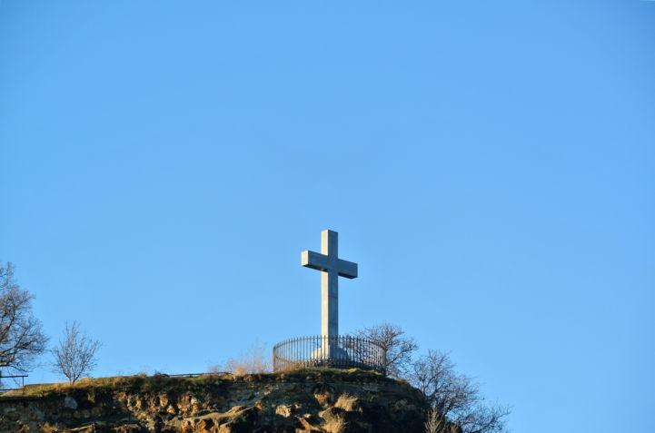 A Gellért-hegyi Sziklatemplom feletti kereszt