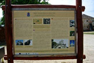 Szent sír kálvária és Szent szív - információs tábla
