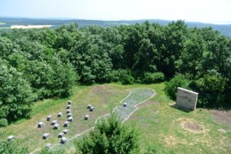 model of the Balaton and the monadnocks seen from the Kossuth Lookout Tower