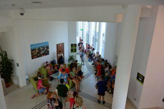 a Tisza-tavi Ökocentrum belseje