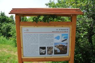 a Vulkán tanösvény egy táblája