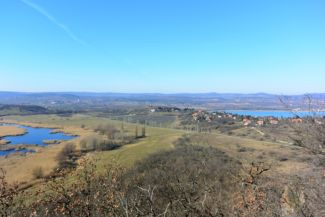 Lake Balaton and the Outer Lake from the Little Wood