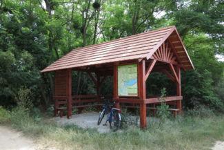 Pityókás kerékpáros pihenő