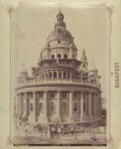 Utolsó simítások a Bazilikán 1893 körül (Forrás: Fortepan/ Budapest Főváros Levéltára)