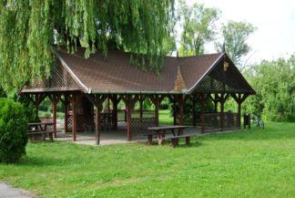 kerékpáros pihenőhely Csopakon