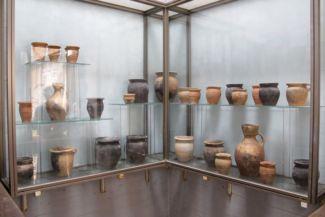 a ritulális fürdő kútjának feltárásakor előkert leletek