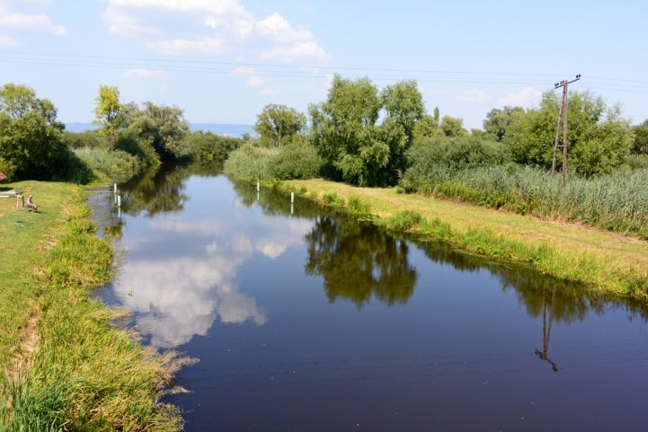 a Zala folyó torkolata a Balatonba