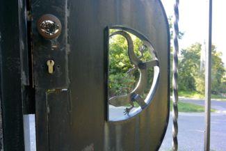 kovácsoltvas pannon gyík a természetvédelmi terület kapuján