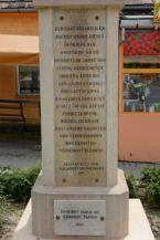 Szent Rókus-szobor felirata