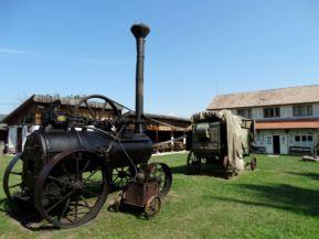 régi munkagép a Haszmann Pál Múzeumban