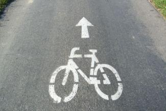 bicikliút jelzés