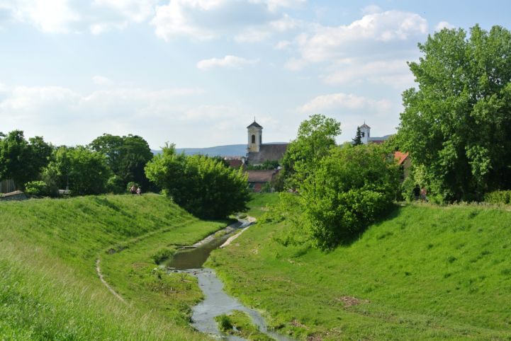 church steeples seen from the Bükkös Stream
