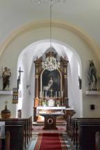 a balatonberényi Keresztelő Szent János-templom belseje