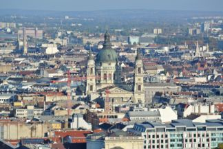 the Basilica seen from the tower of the Matthias Church