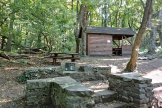 Czinka Panna pihenőhely a Bujdosók lépcsője felső végén