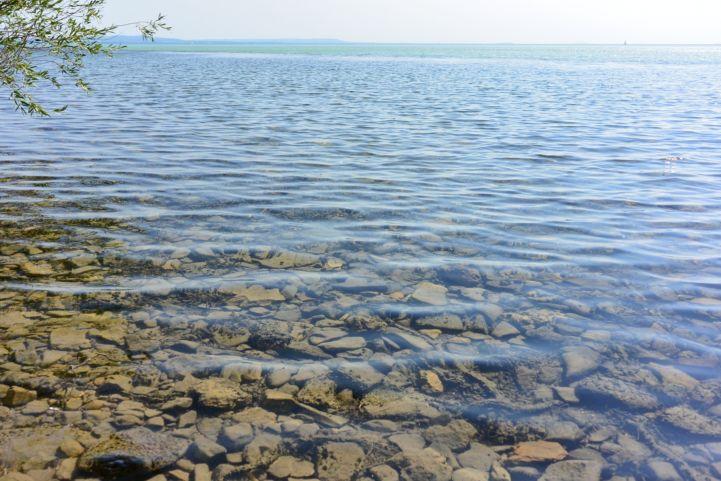 a Balaton vize Sajkodnál