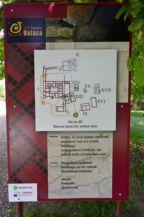 Villa Romana Baláca - információs tábla