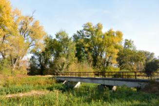 híd a Nyugati-övcsatorna fölött