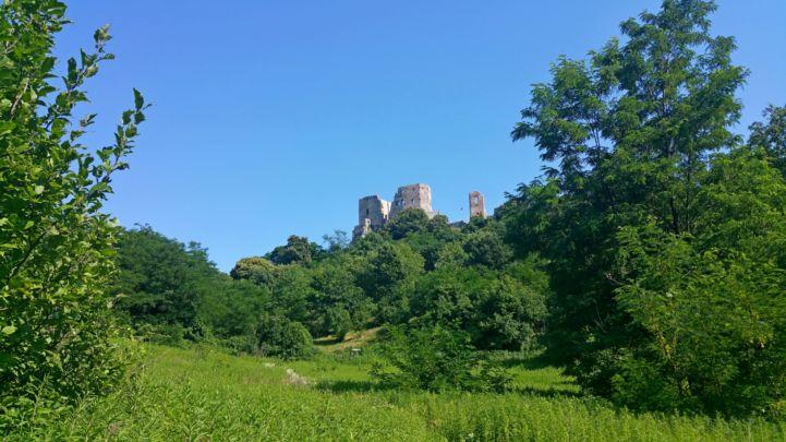 a vár a via ferrata felől fotózva