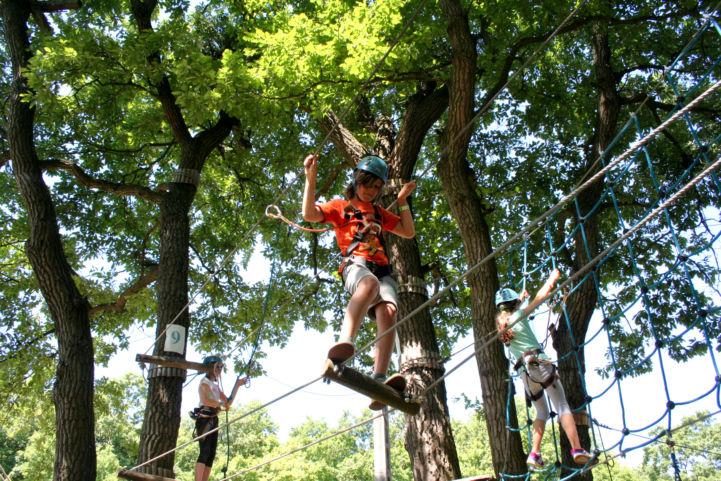 mászás a fák lombja között