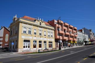 Muskátli ház Nagykanizsa belvárosában