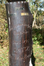 az egyik kopjafa felirata