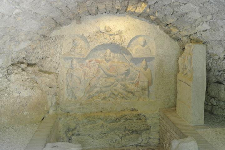 Mithrász-szentély belseje