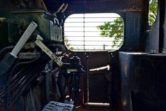 1969-ig közlekedett ez a gőzmozdony  Alsóörs és Veszprém között , a mozdony belseje