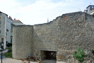 római városfal egy megmaradt részlete