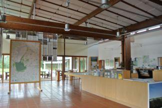 az információs központ belső része