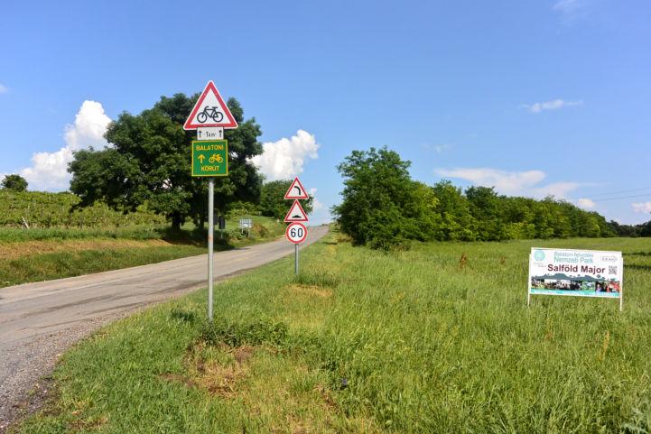 bicikliút Káptalantóti határában