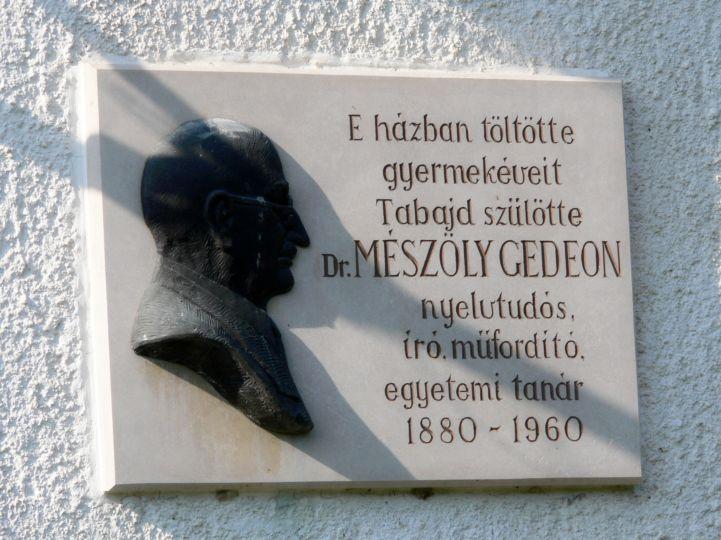 Dr. Mészöly Gedeon emléktábla