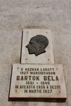 Bartók Béla emléktábla a Keresztes-házon