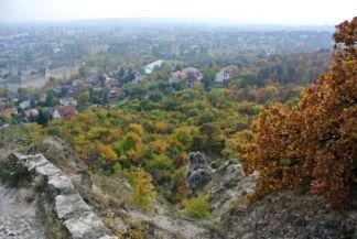 őszi panoráma a hegy déli részéről nézve