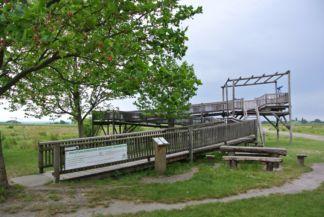 kerekesszékesek számára is látogatható kilátó a Zicklacke mellett