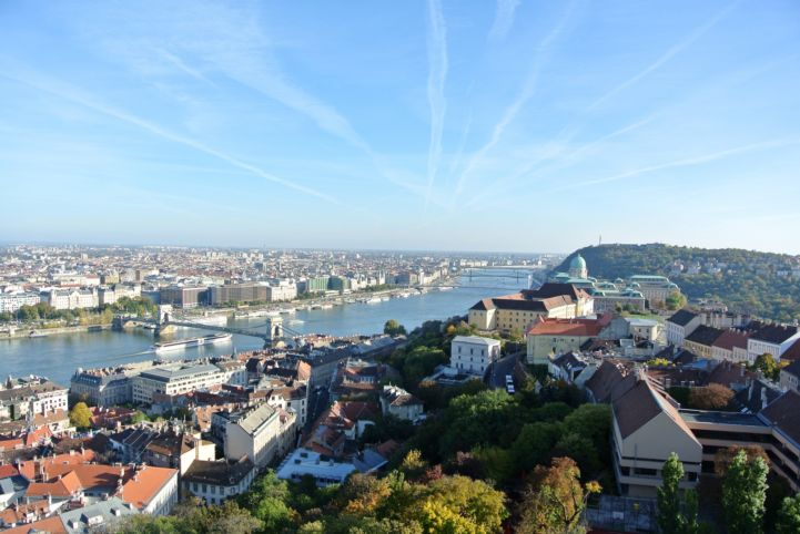 panorama seen from the tower of the Matthias Church