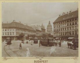 a Deák tér 1904-ben, háttérben a Bazilika