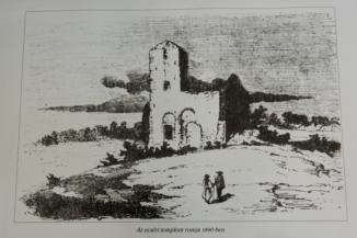 ecséri templomrom rajza 1890-ből