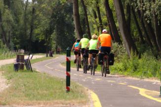 bicikliút Balatonfűzfőn