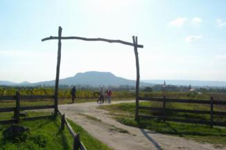 a Szent György-hegy látképe Gyulakeszi határából nézve
