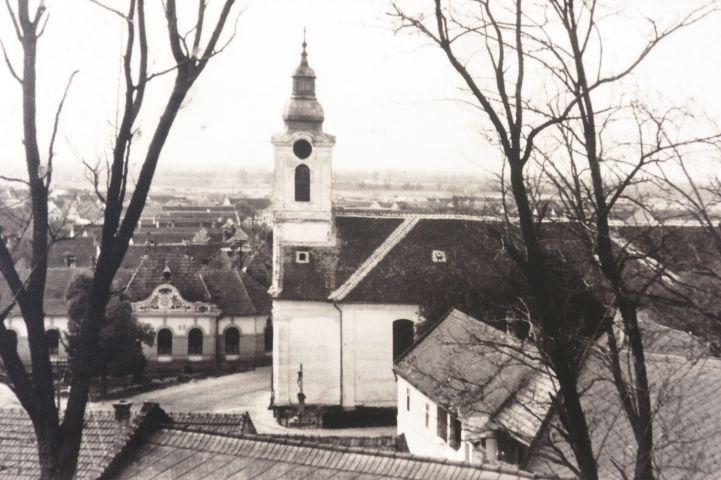 régi fotó a templomról