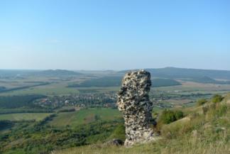 Diszel és a Balaton-felvidék a Csobánc oldalából