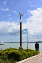 Borsos Miklós: Balatoni szél című szobra